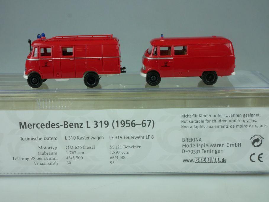 Brekina H0 Mercedes Benz L 319 1956-67 Kastenwagen LF 319 FW 010486 Box 113455