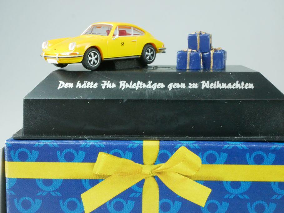 Brekina H0 Porsche 911 Deutsche Post Weihnachts Edition 2006 010577 Box 113459