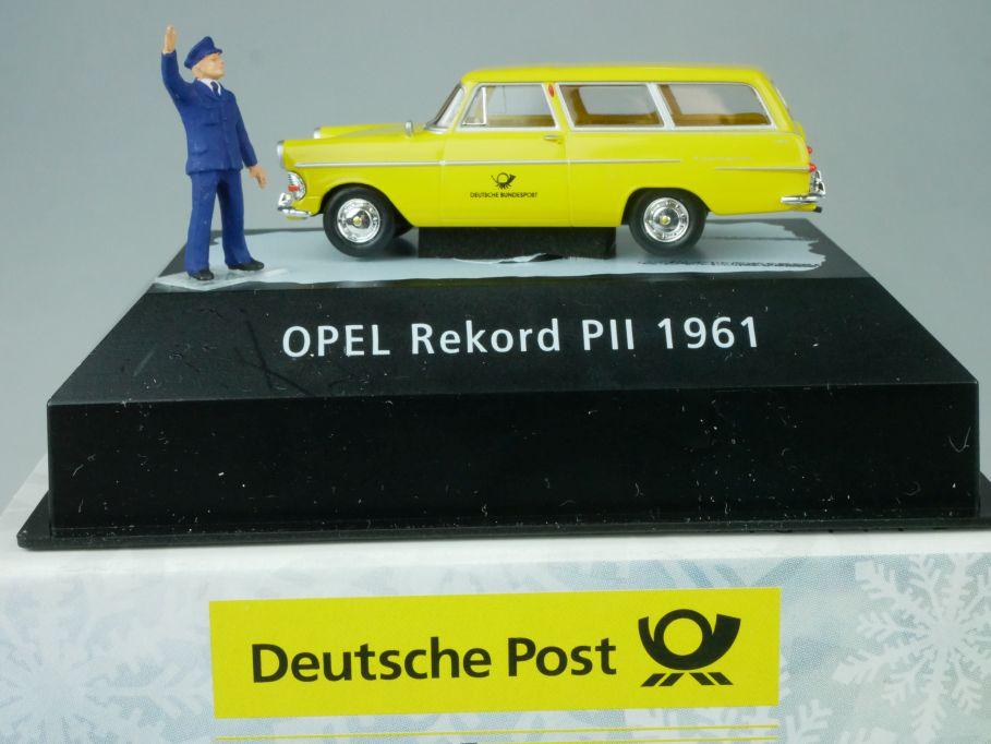 Brekina H0 Opel Rekord PII 1961 Caravan Deutsche Post 010460 Box 113460