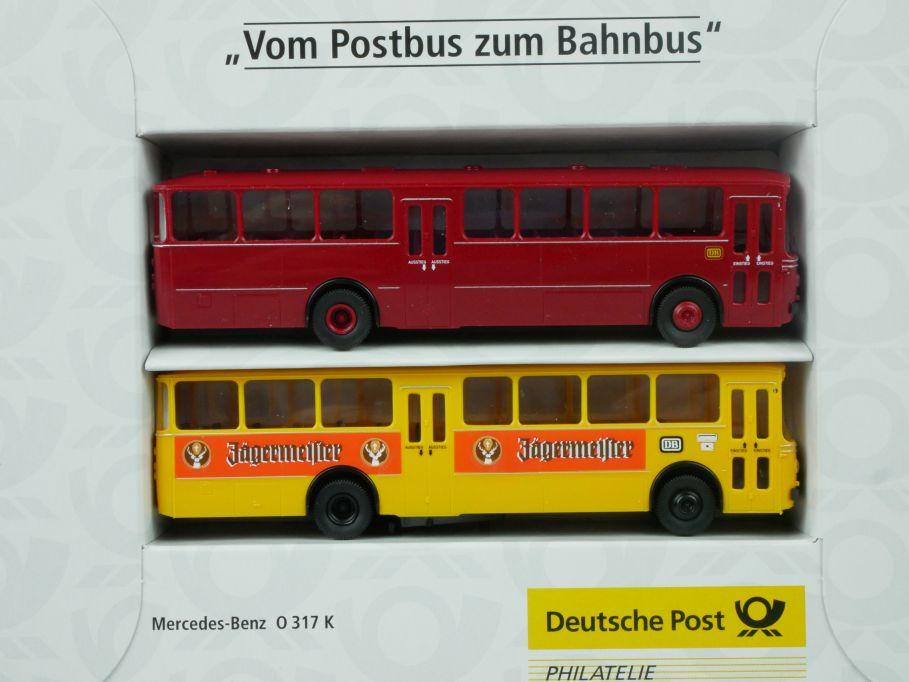 Brekina H0 Vom Postbus zum Bahnbus Mercedes O 317 K Dt. Post 006764 Box 113469