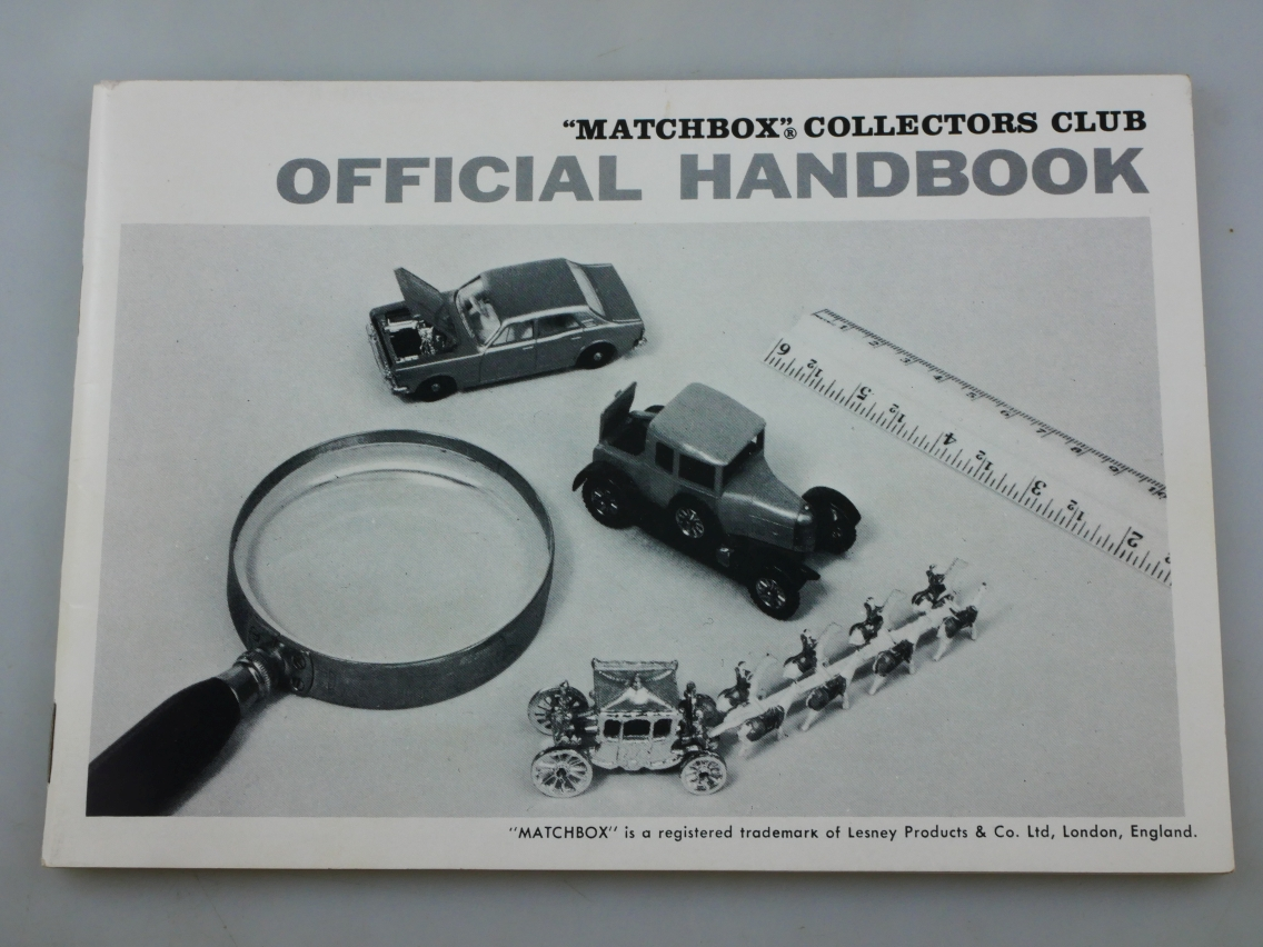 Matchbox Collectors Club Official Handbook - 10017