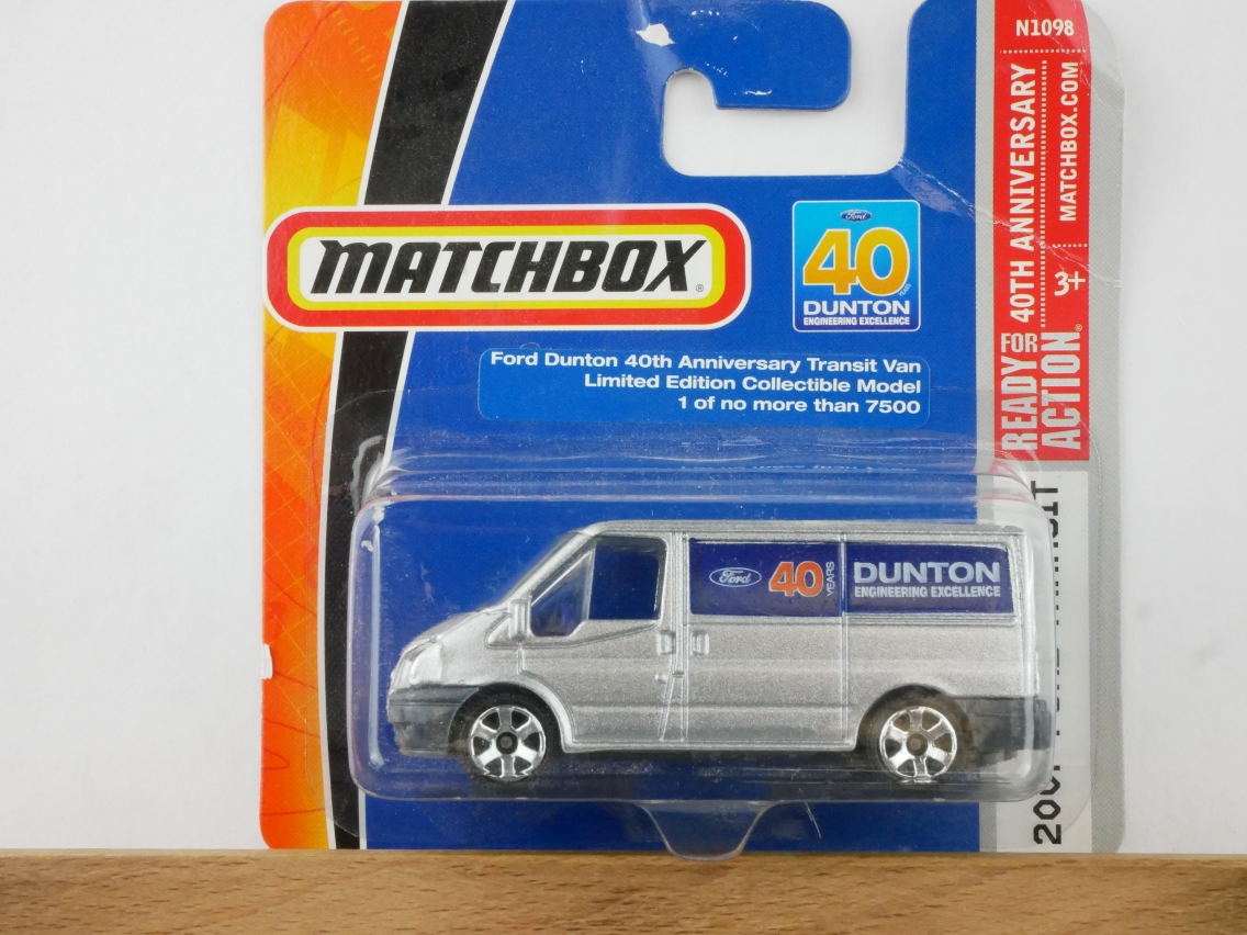 Matchbox Ford Transit Van 2007 40 Years Dunton 2008 limited - 10074