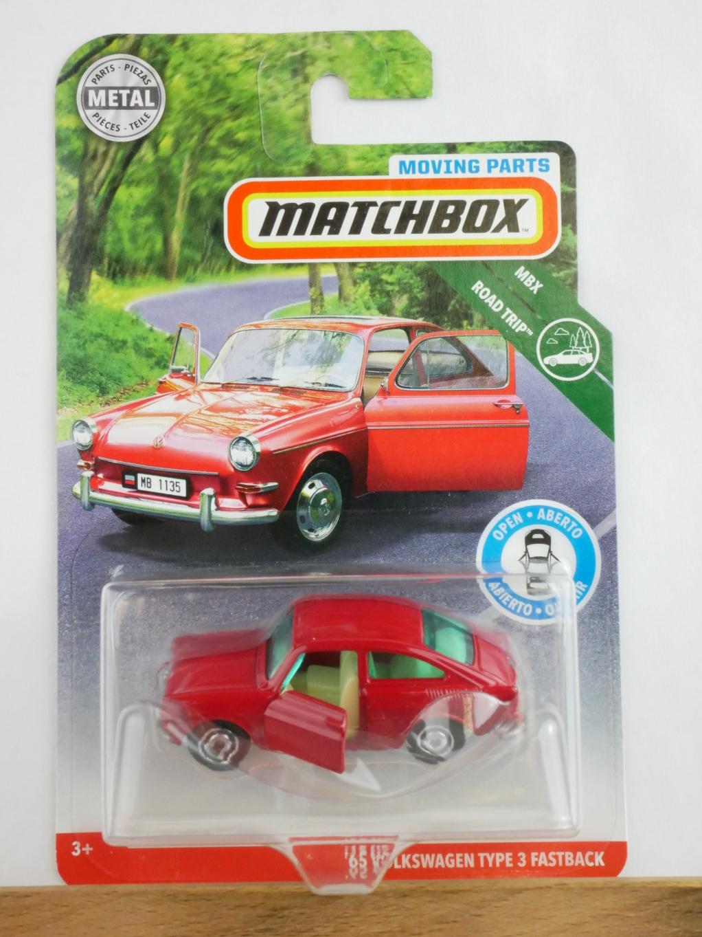 Matchbox Moving Parts '65 Volkswagen VW Type 3 Fastback - 13562