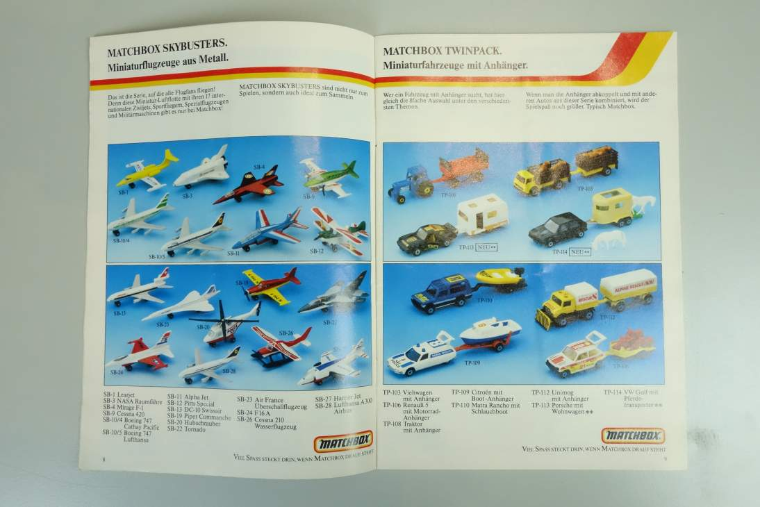 Matchbox Katalog Fahrzeuge 1985 - 20021