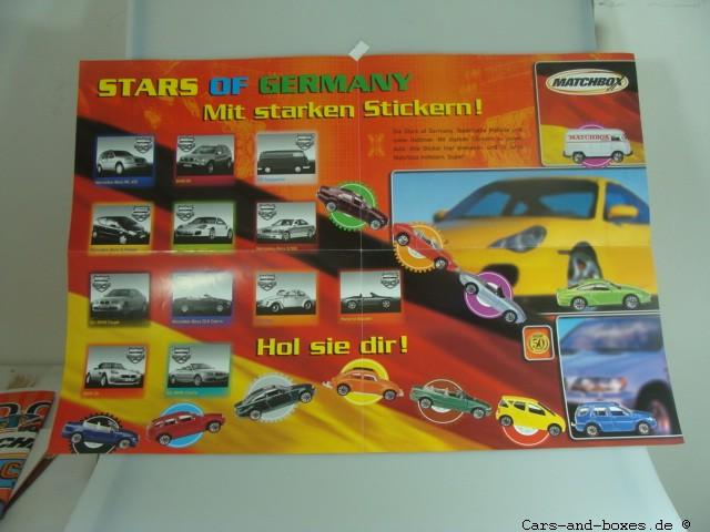 "Matchbox Sticker Poster ""Stars of Germany"" - 20151"