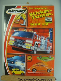 "Matchbox Sticker Poster ""Stars of Germany"" - 20151"