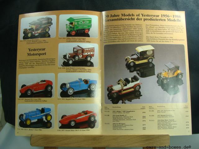 Models of Yesteryear Katalog 1986 (20174)