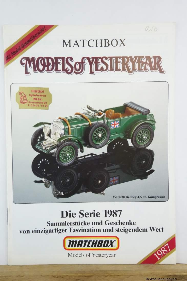 Models of Yesteryear Katalog 1987 (20176)