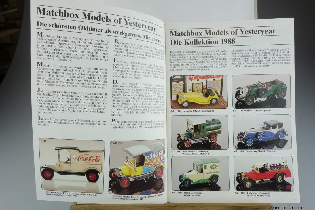Models of Yesteryear Katalog 1988 - 20177
