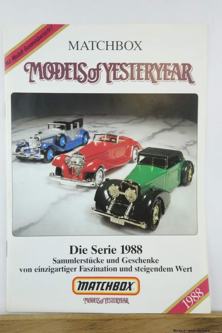 Models of Yesteryear Katalog 1988 (20177)