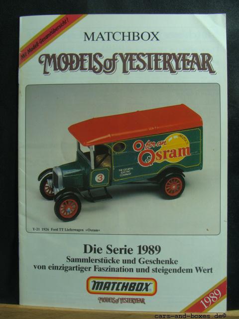 Models of Yesteryear Katalog 1989 - 20178