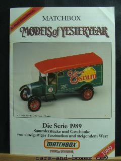 Models of Yesteryear Katalog 1989 (20178)