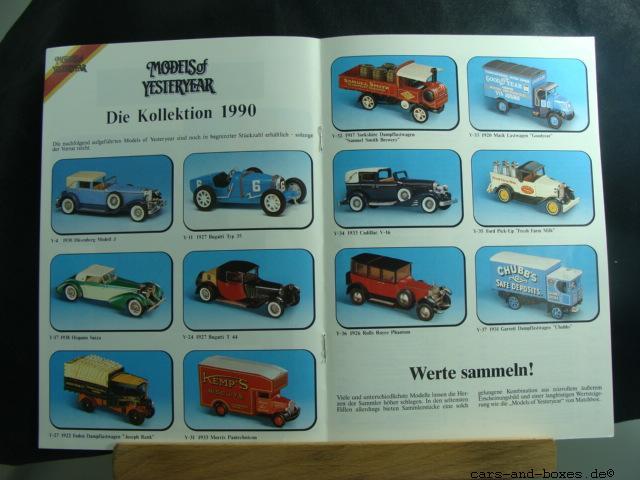 Models of Yesteryear Katalog 1991 - 20179