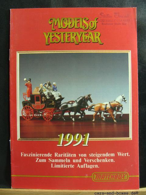 Models of Yesteryear Katalog 1991 (20179)