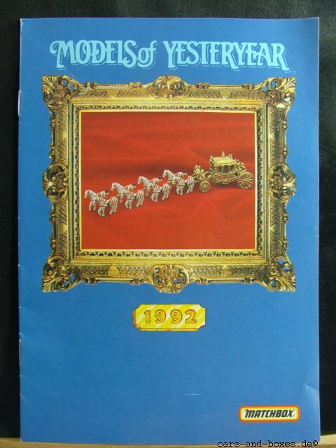 Models of Yesteryear Katalog 1992 (20180)