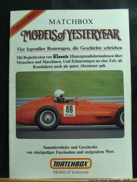 Models of Yesteryear Katalog 1986 Grand-Prix (20182)
