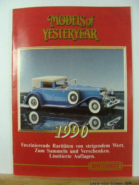 Models of Yesteryear Katalog 1990 (20188)
