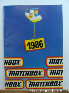 Matchbox Katalog 1986 deutsche Ausgabe (20232)