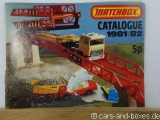 Matchbox Catalogue 1981/82 UK Edition (20286)