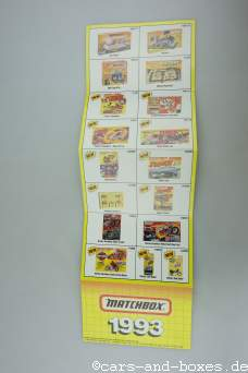 Matchbox Faltblatt 1993 USA (20358)
