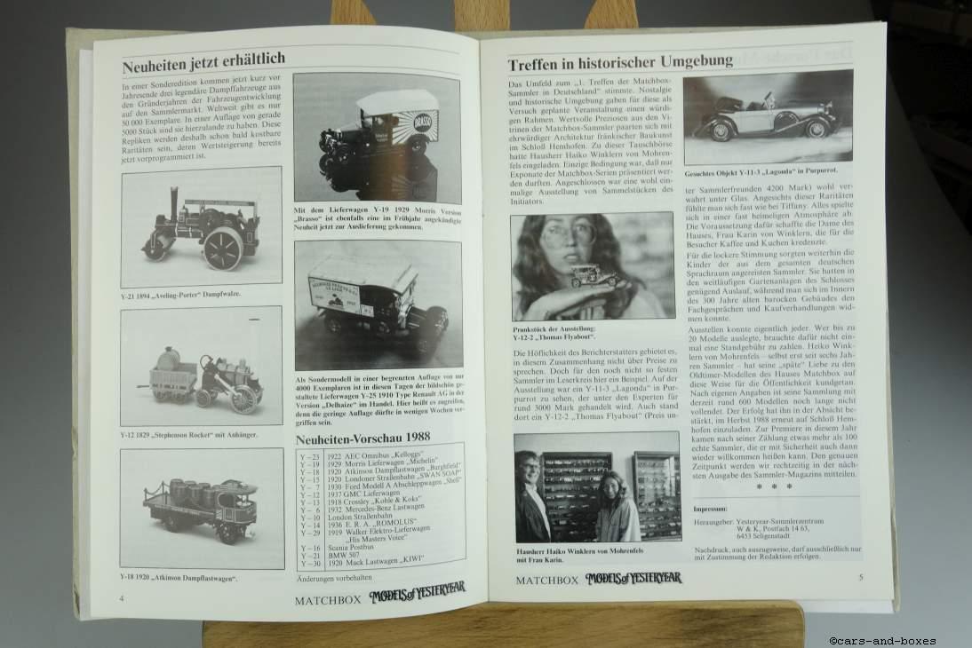 Models of Yesteryear Sammlermagazin 1987/3 - 20490