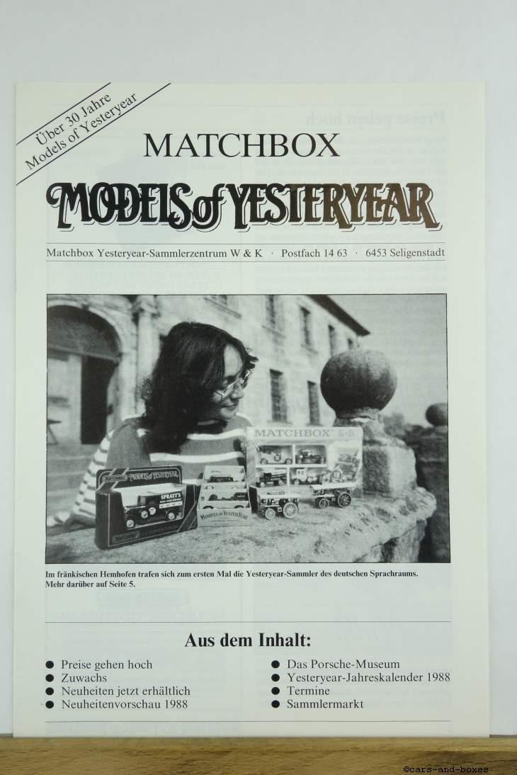 Models of Yesteryear Sammlermagazin 1987/3 (20490)