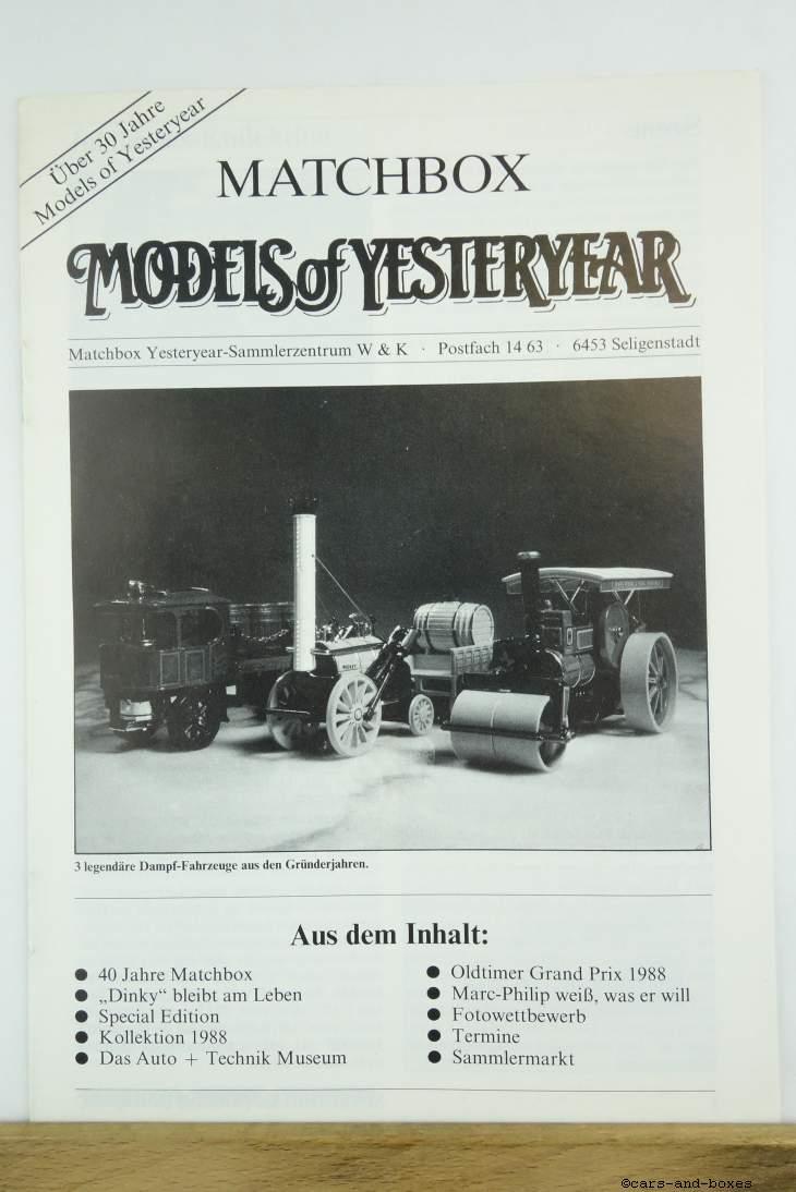 Models of Yesteryear Sammlermagazin 1988/2 (20492)
