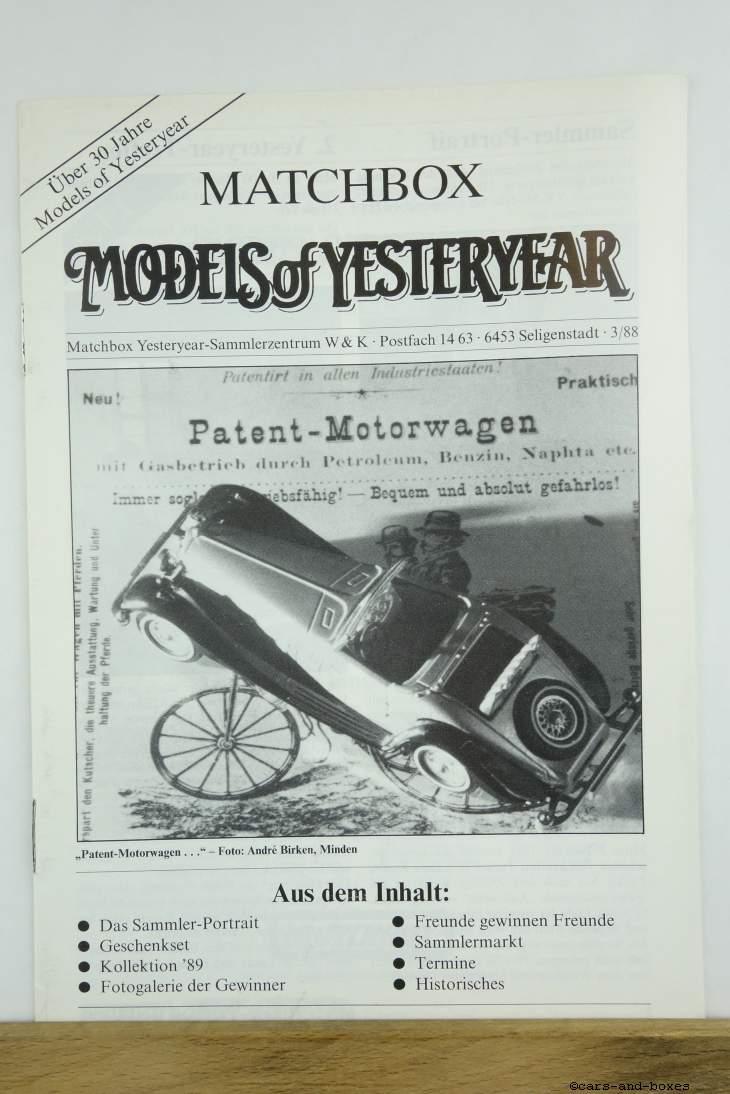 Models of Yesteryear Sammlermagazin 1988/3 (20493)