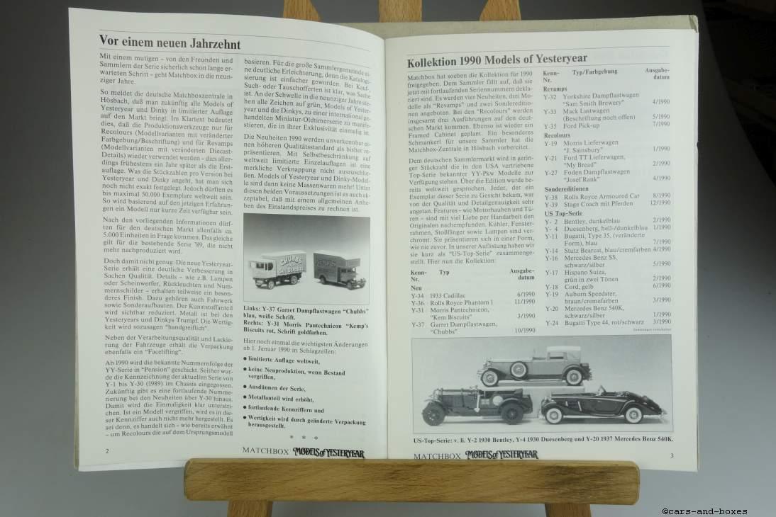 Models of Yesteryear Sammlermagazin 1989 - 20494