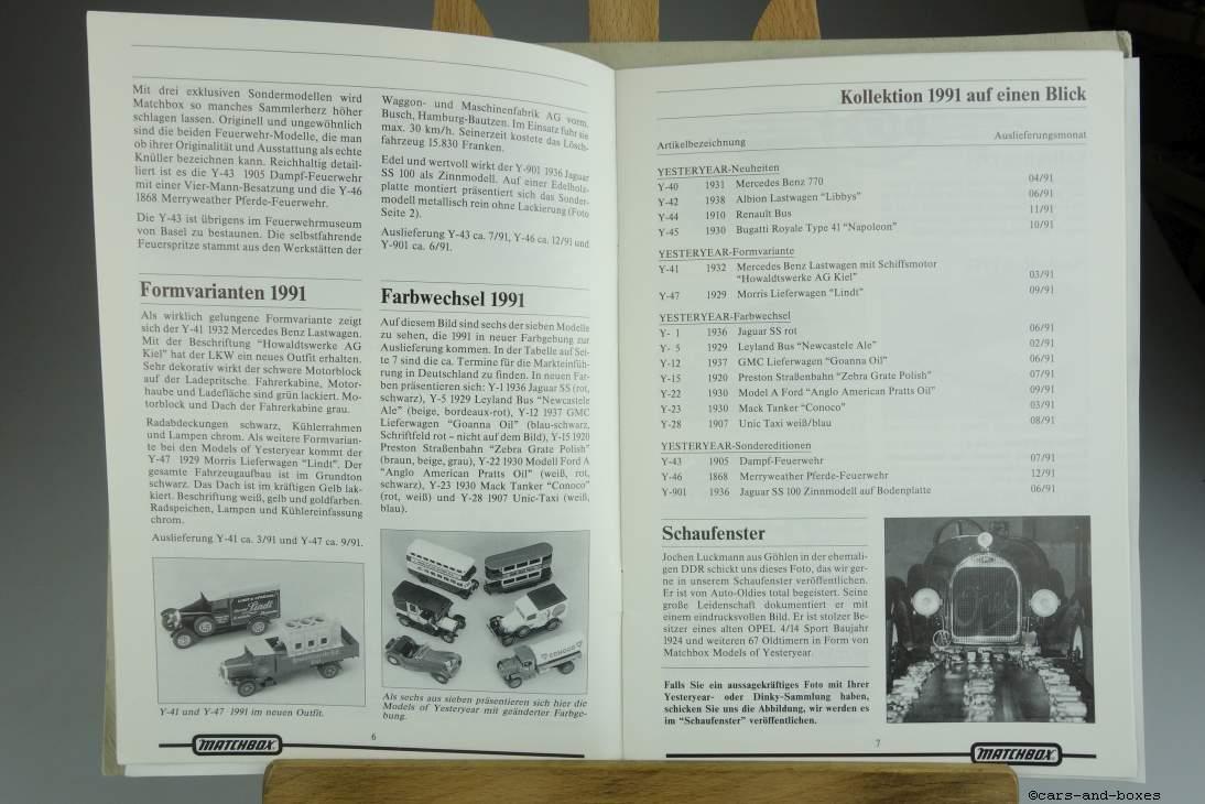 Models of Yesteryear Sammlermagazin 1990/1 - 20495