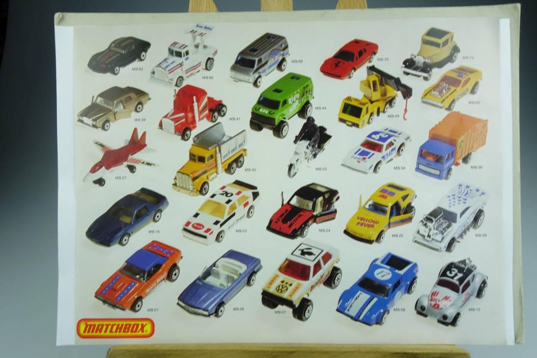 Matchbox Bilderbogen mit 25 diversen MB75 Modellen - 20600