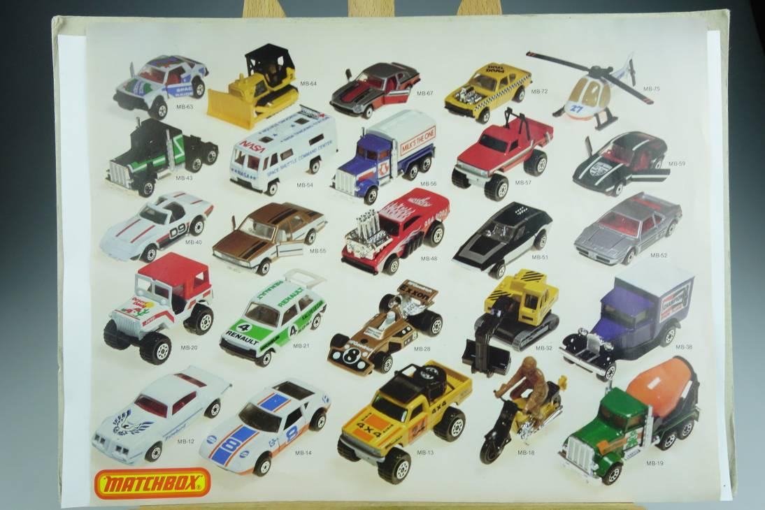 Matchbox Bilderbogen mit 25 diversen MB75 Modellen - 20601