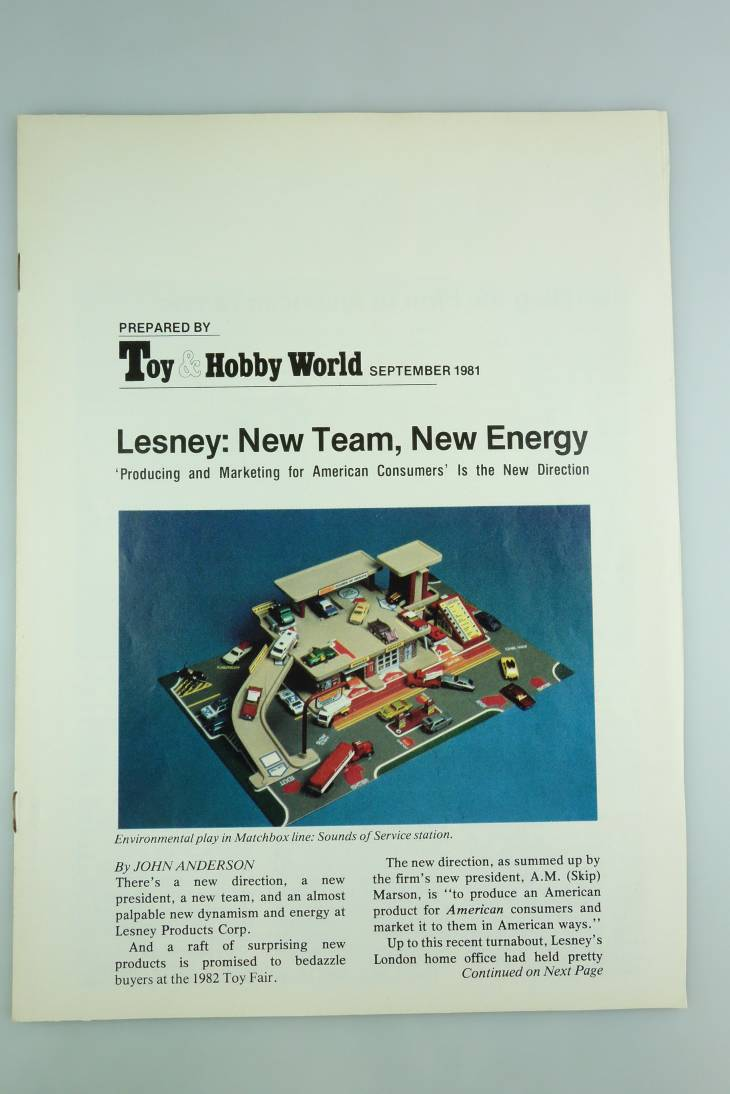 Zeitungsartikel von Toy & Hobby World über Lesney September 1981 - 20638