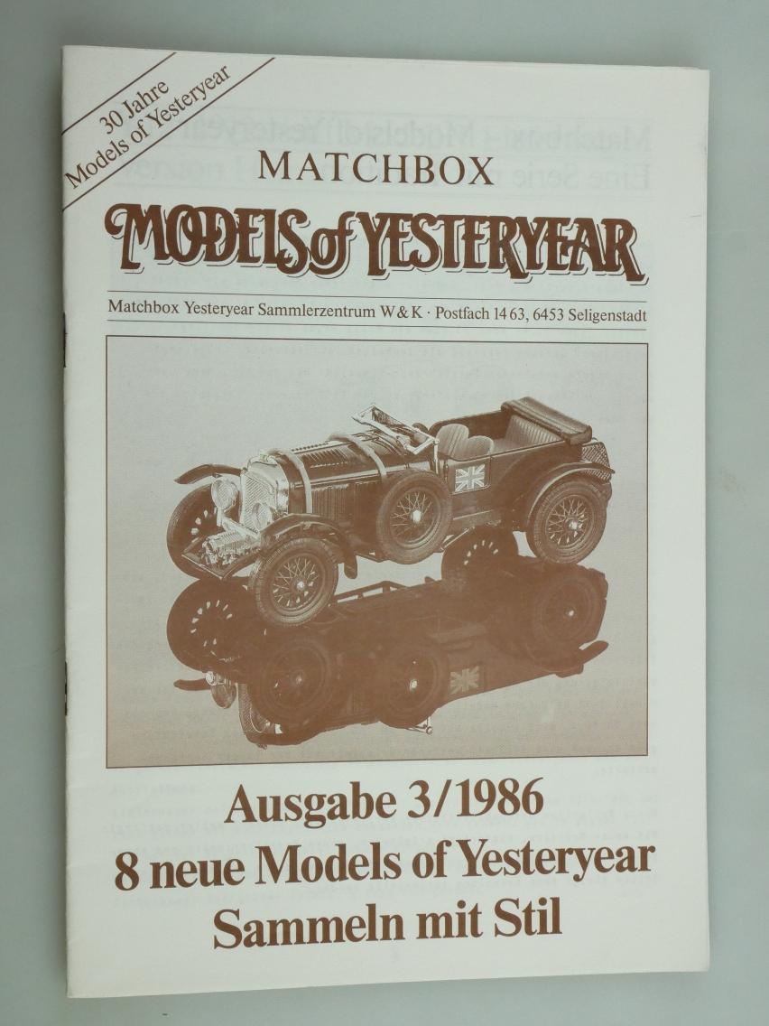 Models of Yesteryear Sammlermagazin 1986/3 (20675)