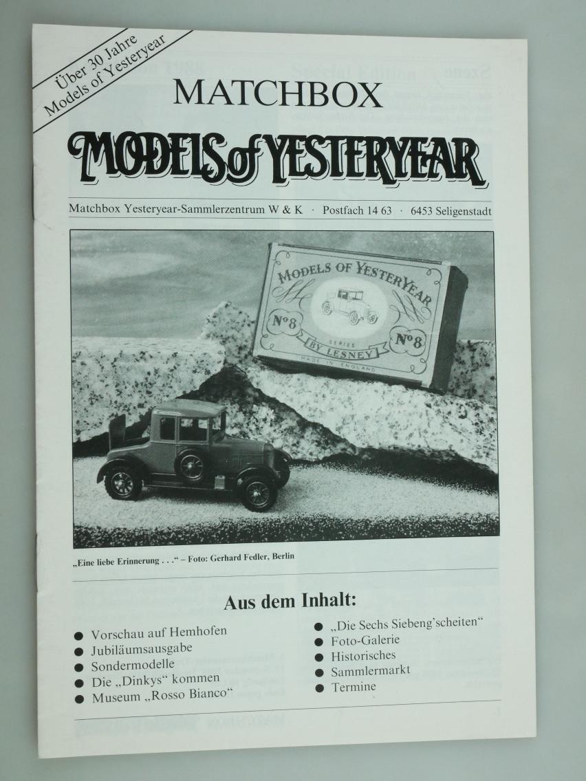 Models of Yesteryear Sammlermagazin 1988 (20677)