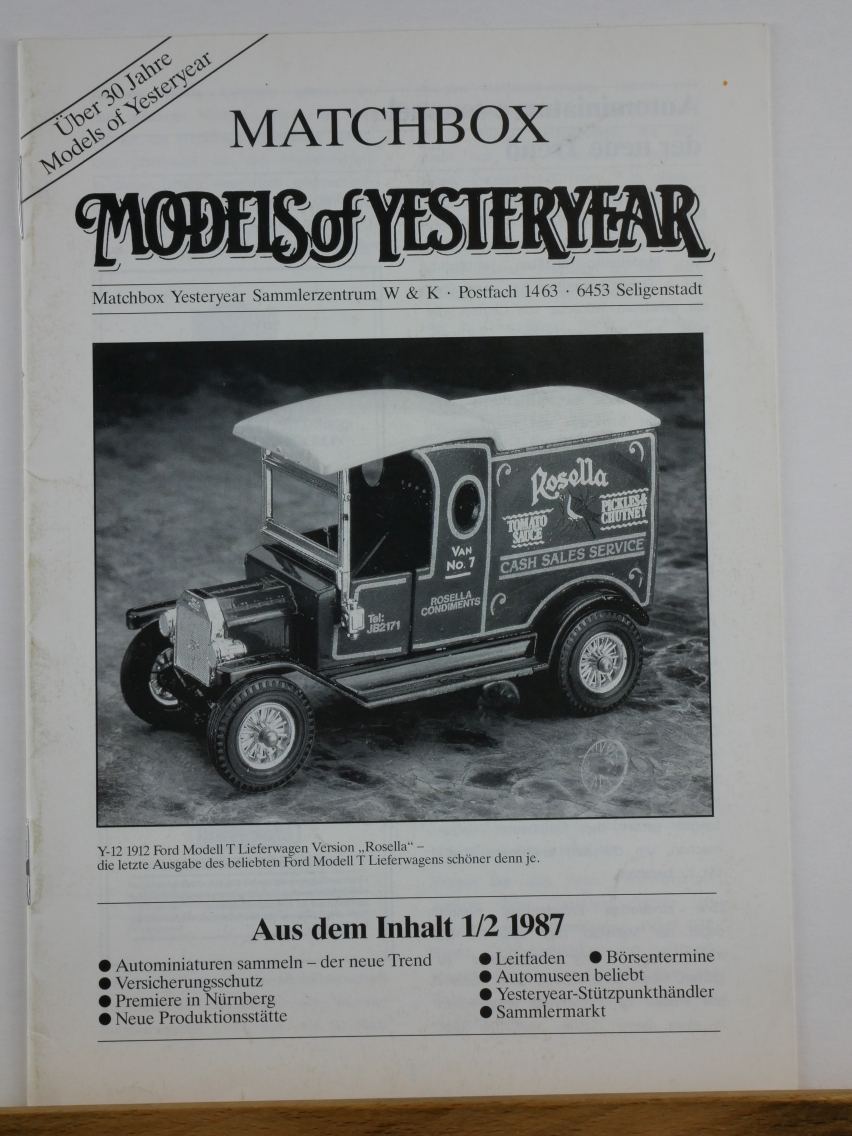 Models of Yesteryear Sammlermagazin 1987 1/2 (20684)