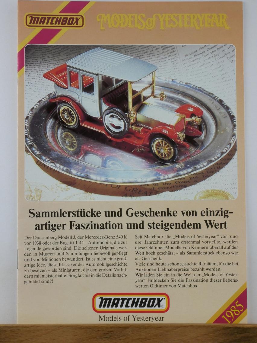 Models of Yesteryear Katalog 1985 (20685)