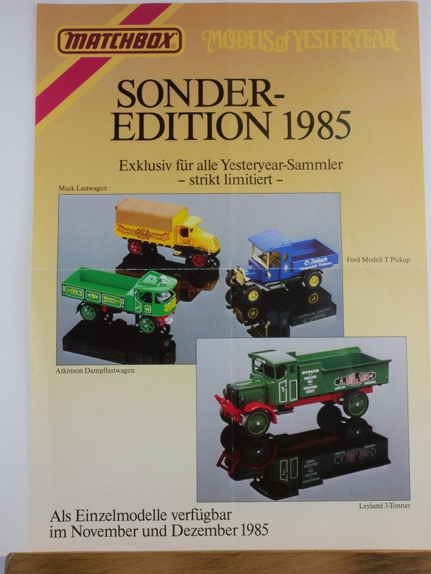 Models of Yesteryear Händlerinformation Sonder-Edition 1985 (20687)