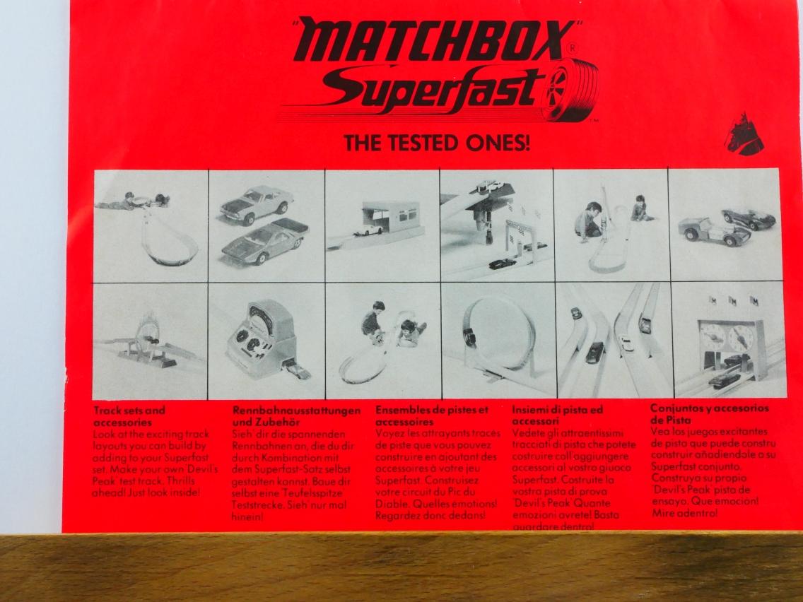 Matchbox Bauanleitung für Superfast-Rennbahnen 1972 - 20702