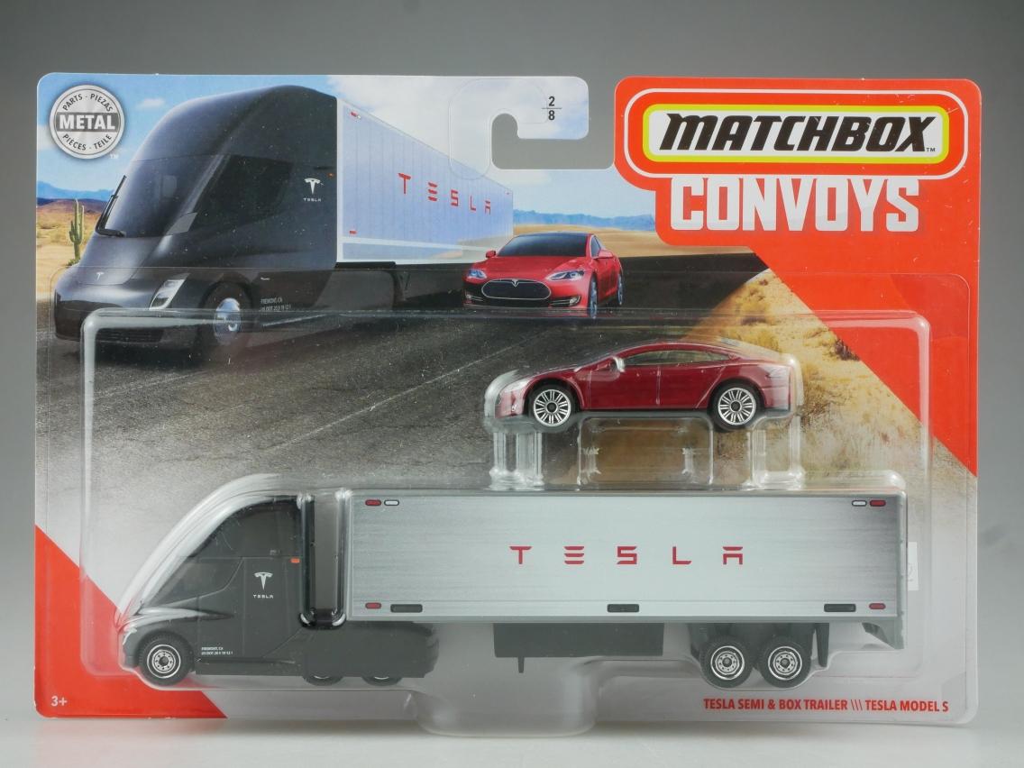 Tesla Semi & Box Trailer \\\ Tesla Model S Convoys - 27402