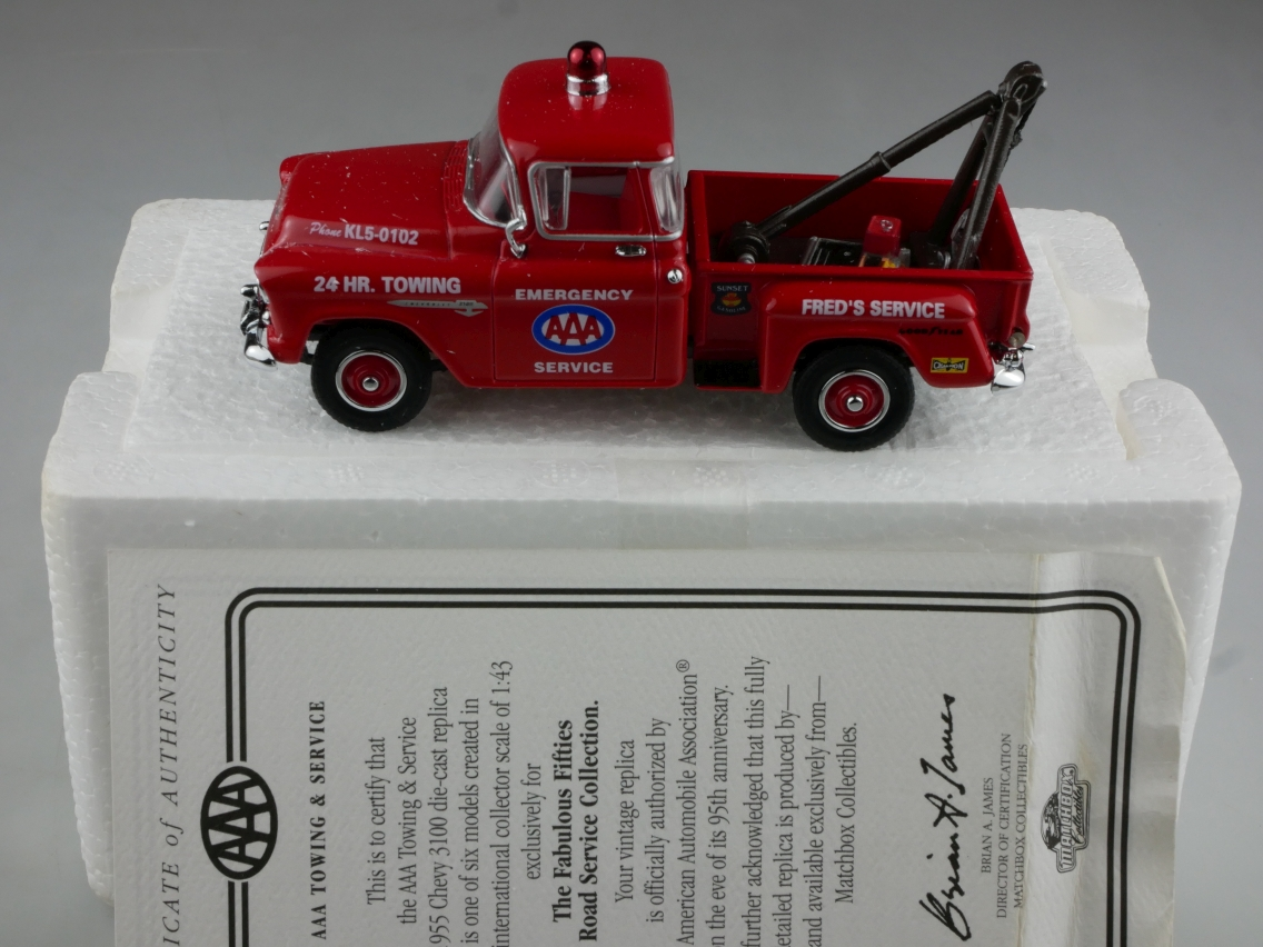 YRS01 1955 Chevrolet 3100 AAA Tow Truck - 47614