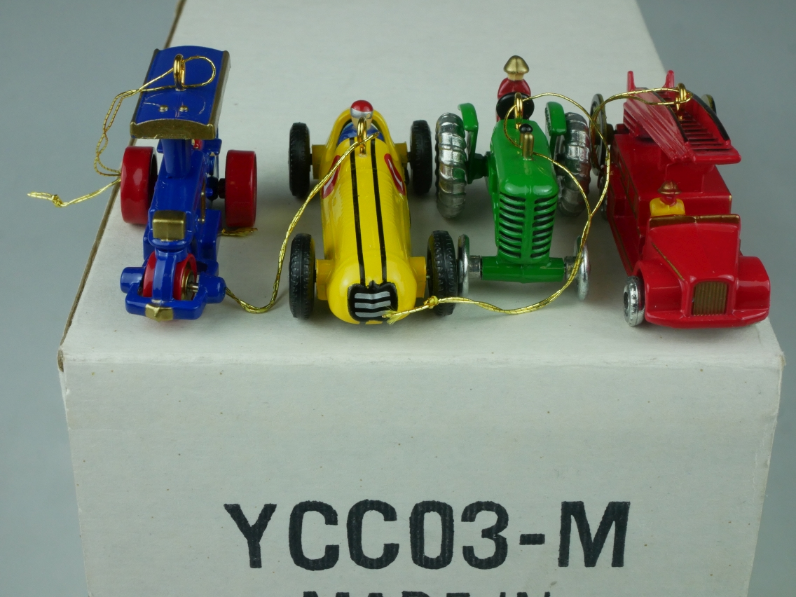 YCC03 4x Matchbox Originals Holiday Ornaments - 47657