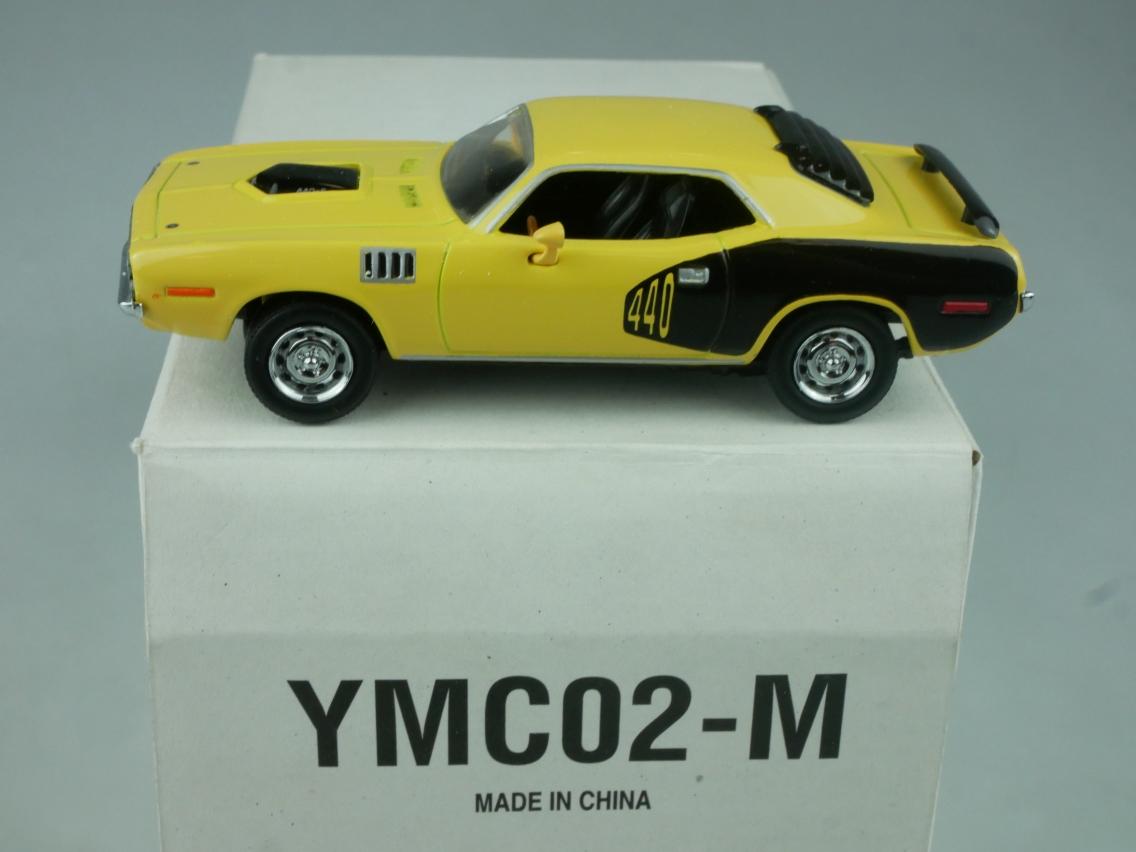 YMC02 1971 Plymouth 440 + 6 Cuda hellgelb - 47658