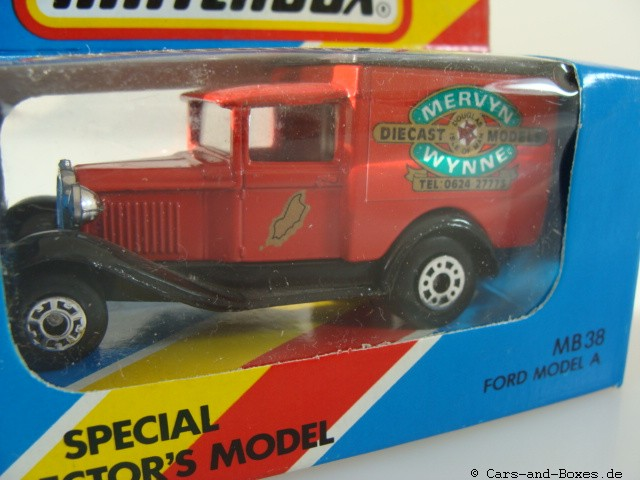 "Ford Model 'A' Van ""Isle of Man"" ""Mervyn Wynne"" (38-E/76-C) - 61088"