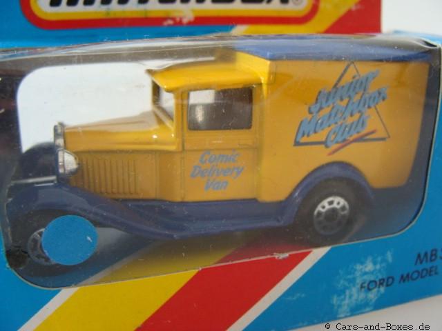 """Ford Model 'A' Van """"Junior Matchbox Club"""" """"Comic Delivery Van"""" (38-E/76-C) - 61103"""