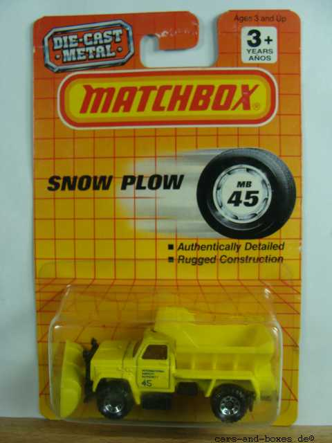 Highway Maintenance Truck Snow Plow (45-E/69-G) - 62309