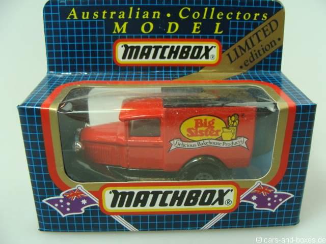 "Ford Model 'A' Van ""Big Sister Australian Bakery"" (38-E/76-C) - 63106"