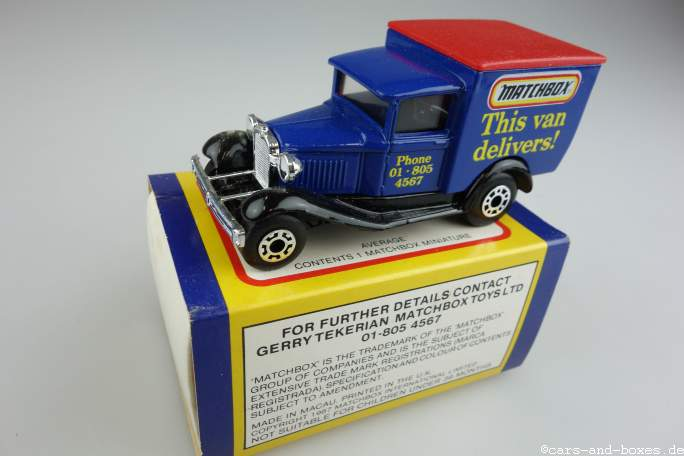 Ford Model 'A' Van (38-E/76-C) - 63707