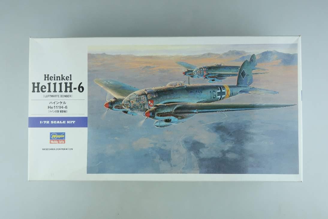 Hasegawa 1:72 Heinkel He111H-6 deutsche Luftwaffe Bomber Kit 00551 Box 104437