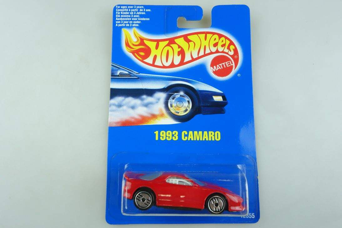 1993 Camaro Hot Wheels Mattel 12355 Chevy Malaysia mint blue card MOC 64 104507